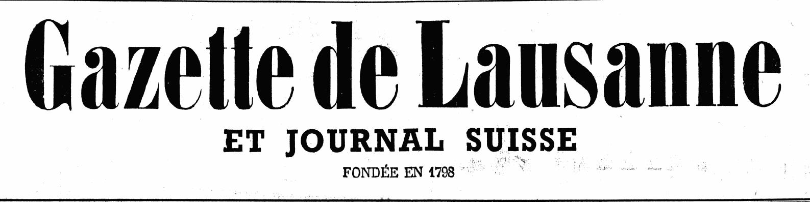 La gazette de Lausanne