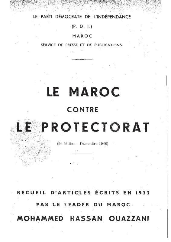 Le Maroc contre le Protectorat_MHO