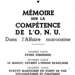 Mémoire sur la compétence de l ONU dans l Affaire marocaine_PDI