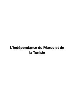 L'indépendance du Maroc et de la Tunisie