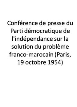 Conférence de presse du Parti démocratique de l'indépendance sur la